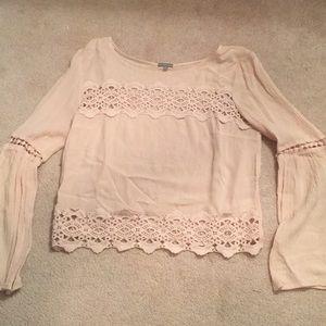 Light pink lace shirt